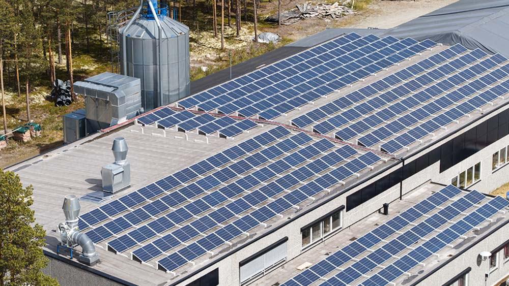 Solcelle på tak