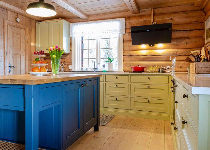 Mange farger på kjøkkenet